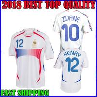 2006 Retro Soccer Jersey ZIDANE Henry Trezeguet Vieira Ribery 06 world cup France  Vintage Football Shirts Maillot de Foot top quality f2d0815f8