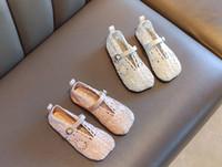 Wholesale crochet flats shoes resale online - Children s lace princess sandals summer new girls crochet hollow sandals kids lace breathable soft flat shoes A2229