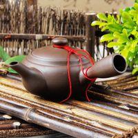 yixing teekanne gesetzt großhandel-100ml Yixing Handgemachte Chinesische Tee-Set Topf Chinesische Kung Fu Teekannen Wasserkocher Teekanne Lila Sand Keramik Keramik China Tee-Sets Pitcher