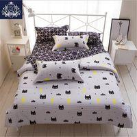 Wholesale batman bedding for sale - Group buy Batman Mask Print Bedding Set Cartoon Style White Color Kids Twin Full Queen Size Duvet Cover Sheet Pillowcase Bedding Sets Y200111