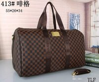 Wholesale backpack carry resale online - 55 large capacity women travel bags famous classical design sale high quality men shoulder duffel bags carry on luggage keepall
