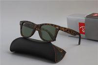 Wholesale aviators sunglasses blue lens for sale - Group buy Hot Sale Ray Aviator Sunglasses Vintage Pilot Brand Sun Glasses Bans UV400 Men Women Ben Mirror mm Glass Lenses With Case