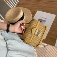 ingrosso progettista della borsa di paglia-Nuove borse di marca borsa di cuoio dell'unità di elaborazione di lusso delle donne Borse di pane di paglia del progettista Flap Crossbody Borse Borse a tracolla Messenger Bag