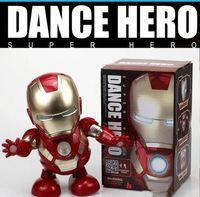 ingrosso rc squalo dirigibile-Marvel Avengers Endgane Super Heroes Danza Iron Man con Led e musica Model Toys Collection Action Figure fa