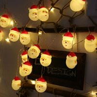 Wholesale h led lights for sale - Group buy 1 m LED Battery Operate Light String Merry Christmas Santa Claus Snowman Light Xmas Gift Home Shop Decor Christmas Tree Decor H