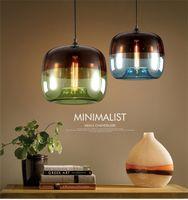 Wholesale minimalist lighting hanging resale online - 2019 Nordic Modern Glass Apple LED Pendant Lights Rainbow Creative Minimalist Dining Luminaire Hanging Light Fixtures