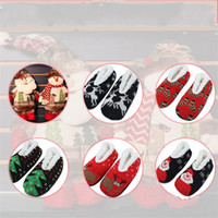 Wholesale knitting shoes slippers resale online - Cartoon Christmas Slipper Socks Knitted Thickened Plush Yoga Shoes Santa Claus Deer Designs Women Winter Floor Sock Of Xmas Indoor7 jd E1