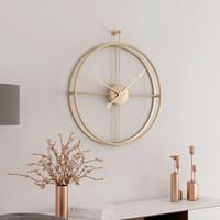 Wholesale modern decor pieces resale online - 55cm Large Silent Wall Clock Modern Design Clocks For Home Decor Office European Style Hanging Wall Watch Clocks CJ191115