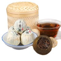 ingrosso yunnan tè-Cinese Yunnan Piccolo verde Mandarin Puer Tea Orange Peel Maturo Pu'er Tea Shu Cha Barrel 250g