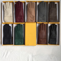 Wholesale white wool mittens resale online - Fashion High Quality Ladies Fashion Casual Leather Gloves Thermal Gloves Women s wool gloves in a variety of colors
