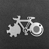 ingrosso scale di bottiglia-Mountain Bike Tool Card All'aperto Coltello da campeggio EDC Chiave inglese Can Bottle Opener Corda Cutter Riflettore Screw Screw Crossdriver 7 5slH1
