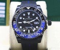 abrigos batman al por mayor-Hombres Batman cerámica Bisel PVD Negro Relojes recubrimiento DLC automática 2.813 hombres del reloj 126710 116710 II Gmt Oysterflex goma de pulsera Maestro