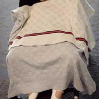 manta de bebé de calidad al por mayor-INS manta de bebé de lujo de verano de calidad manta de playa de verano alfombra beige tejer manta para el bebé 90 * 120 cm