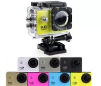 mini-kamera fotos voll hd großhandel-SJ4000 1080 P Full HD Action Digital Sport Kamera 2 Zoll Bildschirm Unter Wasserdicht 30 Mt DV Aufnahme Mini Sking Fahrrad Foto Video Cam