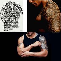 tatuaje temporal de los brazos a prueba de agua al por mayor-Nueva Moda Extraíble Impermeable Etiqueta Engomada Del Tatuaje Temporal Brazo Hombro Body Art Etiqueta Tatuajes de Moda Arte Corporal