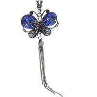 ingrosso collana opalina della farfalla-2018 Collana pendente donna Lady Collana pendente blu con pendente opale nero opale con catena VP553