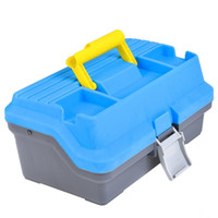 Wholesale fishing for sale - Library Fishing Suitcase Multi Layer Bait Box Outdoor Camping Toolbox Blue Big Space Fishings Accessories New Arrival lo C1