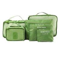 ambalaj sıkıştırma torbaları toptan satış-Seyahat 6 Set Ayakkabı Çanta ile Ambalaj Küpleri - Sıkıştırma Seyahat Bagaj Moda Çantalar