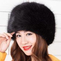 корейский модный мех оптовых-New Women Autumn Winter Faux Fur Hats Korean fashion Faux  Fur Flat-top cap Mujer Hats