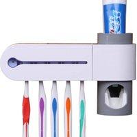 uv zahnbürste groihandel-Hohe Wissenschaft und Technologie Dental UV-UV-Zahnbürste Desinfektionsmittel Sterilisator Reiniger Aufbewahrungshalter Umweltfreundliche A4 30+ T190708