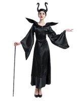 königin sterne großhandel-Halloween Kostüm Hexe Kostüm Maleficent 's Dark Queen Suit