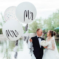 Wholesale new arrival photography props for sale - Group buy 36 Inch Balloons Man Woman Wedding Photography Prop Airballoon Mr Mrs English Letters Pattern Balloon New Arrival dh L1