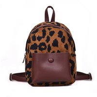 корейский стиль рюкзак оптовых-Leopard Women Backpack Back Pack Bag Bookbag Ladies Girls vintage  Korean Style Fashion Laptop Anti Theft Backpack