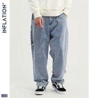jeans feitos à mão venda por atacado-Meninos Designer Jeans INF Mens Roupa Tide Marca Hip Hop Tannin Wash água Handmade Buraco Hetero solto Dança Jeans para New atacado