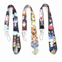 Wholesale new japanese phones for sale - Group buy New Cartoon Popular Japanese anime Naruto Phone key chain Neck Strap Keys Camera ID Card Lanyard