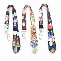 câmeras de cartão de identificação venda por atacado-Novo Dos Desenhos Animados Popular Japonês anime Naruto Telefone chaveiro Correia de Pescoço Chaves ID Card Lanyard