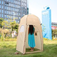 Wholesale outdoor toilets resale online - TOMSHOO Portable Outdoor Shower Tent Bath Changing Fitting Room Toilet Tent Shelter Automatic Outdoor Camping Beach