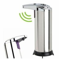 Wholesale automatic stainless steel sensor soap for sale - Group buy Automatic Sensor Soap Dispenser Liquid Soap Dispensers Stainless Steel Free Wash Machine Portable Motion Activated Dispenser CCA11252