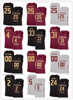 ingrosso maglia di pallacanestro grigia-2020 Florida State Seminoles Basketball Jerseys 25 Mfiondu Kabengele 0 Phil Cofer Mann Gray Custom FSU NCAA College Jerseys Any Name