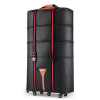 Wholesale folding spinner resale online - Men inch Large capacity Oxford rolling luggage bag abroad to study and move to move folding trolley suitcase travel bag