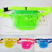 Wholesale fishing fanny pack for sale - Group buy New Arrival Colors Chest Bag Transparent PVC Fanny Pack Leisure Shoulder Bags For Women Girls Waist Bag Clear Outdoor Sports Backpack M19Y