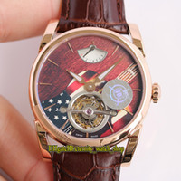 Wholesale guitar flags for sale - Group buy JB MJF Limited Edition Tonda PFS251 HA1241 Real Tourbillon PF510 Mechanical Hand winding Men Watch American flag guitar Dial Watches