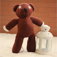 bayan beyna peluş oyuncak bebek toptan satış-Fantastik Sevimli Mr Bean TEDDY BEAR Çocuk Erkek Kız Dolması Peluş Oyuncak Mr.