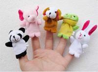 çocuklar parmak kuklaları toptan satış-2019 yeni Bebek Oyuncak Karikatür Parmak Kukla, Parmak Oyuncak, Parmak Bebek, Hayvan Doll, Bebek Bebekler Çocuk Peri Masalı Aile Oyuncaklar için Ücretsiz kargo