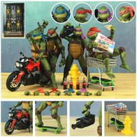 Wholesale Classic Movie Film s Raphael Leonardo Michelangelo Donatello quot Action Figure Toys Doll Model T200704