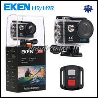 precio de pilas de camping al por mayor-Cámara de acción Control remoto original EKEN H9R Ultra HD 4K WiFi 1080P 60fps 2.0 LCD 170D pro sport impermeable cámara go go DHL gratis