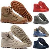 botines de los hombres de moda blanco al por mayor-Moda Original Palladium Brand Boots Mujeres Hombres Diseñador Sports Red White Black Camo Winter Sneakers Casual Luxury ACE Botines