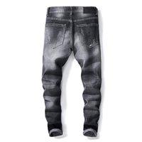 calças jeans soltas para homens venda por atacado-Luz azul Fit Loose Denim Marca de Jeans de Algodão Para Homens Moda Masculina Jeans Mens Magros Calças Casuais Calças Elásticas