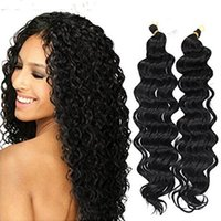 Wholesale water wave hair freetress for sale - Group buy Synthetic Deep Wave Hair Extensions Ombre Crochet Braids for Women Freetress Water Wave Synthetic Braiding Curly Hair Bundles inch b