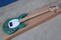 bassgitarre am besten großhandel-Kostenloser Versand Bass Guitar StingRay 4 Music Man grün E-Bass Beste Musikinstrumente Aktive Tonabnehmer