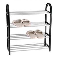 calçado rack metal venda por atacado-Metal de alumínio pé sapateira Diy Shoes armazenamento prateleira Início Organizador Acessórios Q190605