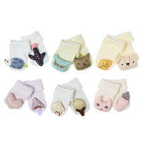 3d karikatür bebek çorapları toptan satış-Yeni 3D Karikatür bebek çorap pamuk yenidoğan çorap sevimli Bebek ayak bileği çorap bebek giysileri tasarımcısı yenidoğan erkek bebek giysileri A6307