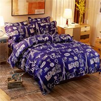 Wholesale sweet bedding set resale online - Solid Sweet style Little red Heart Flower Plant leaves and animals Printed Bedding set with Different Color