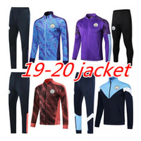 Wholesale futbol jacket for sale - Group buy 2019 MAHREZ G JESUS DE BRUYNE Soccer tracksuit jacket set city KUN AGUERO football training suit jacket Jogging chandal futbol