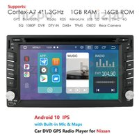Wholesale android double din tv resale online - Android Quad Core Double Din Car DVD Player GPS Navigation for TIIDA QASHQAI X TRAIL MURANO JUKE SUNNY LIVINA