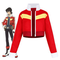 chaquetas de anime para hombre. al por mayor-Hot Voltron: Legendary Defender Keith Red Jacket para mujeres hombres Halloween cosplay disfraz corto Tops Abrigos Trajes